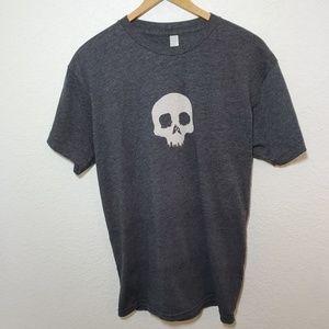 American Apparel | Reverse Image Skull Tee | M